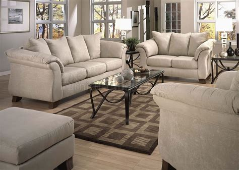 Stone Microfiber Modern Sofa Loveseat Set Woptional Items