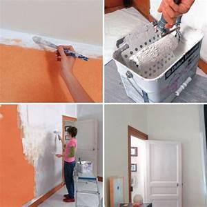Peindre Sur Papier Peint Relief : comment peindre sur du papier peint bricobistro ~ Dailycaller-alerts.com Idées de Décoration