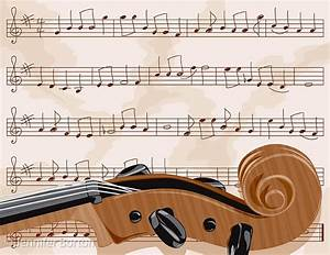 Cello scroll with sheet music (vector illustration) by ...
