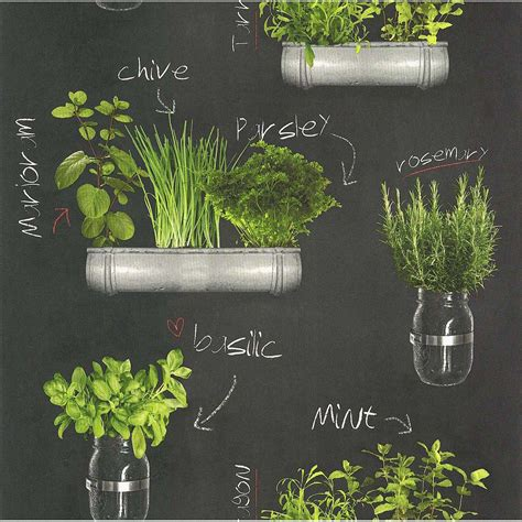 plante aromatique cuisine papier peint plantes aromatiques gris vert papier cuisine et bain leroy merlin