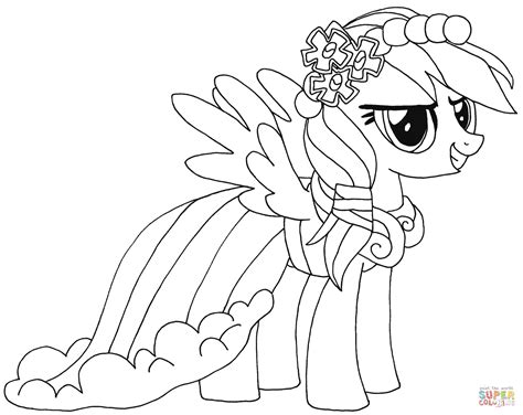 rainbow dash coloring page  printable coloring pages