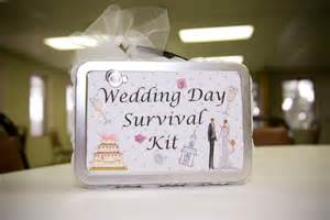 brides wedding invitation kits of craft wedding week wedding day survival kit