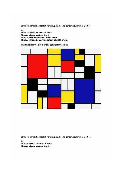 Parallel Lines Horizontal Vertical Perpendicular Teaching Tes
