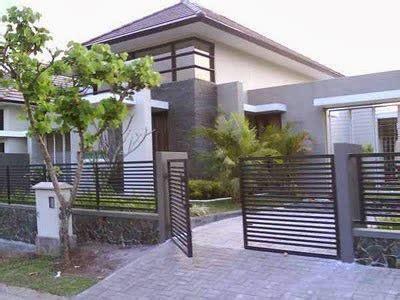 contoh pagar rumah modern desain rumah minimalis