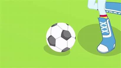 Rainbow Dash Ball Animated Kick Field Awesome