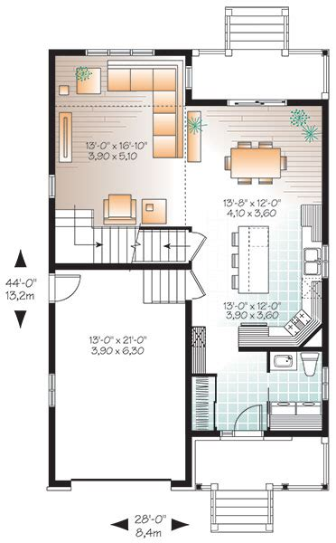 contemporary house plan   bedrooms   baths plan