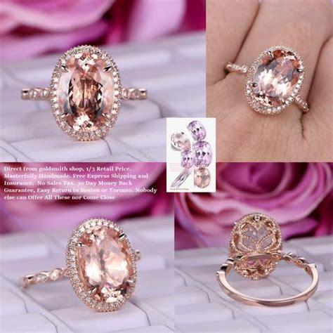 custom morganite engagement rings wedding rings logr