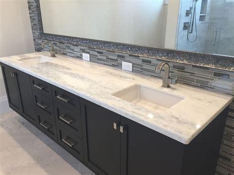 white granite double vanity sink  modern black