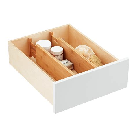 bamboo deep drawer organizers  container store