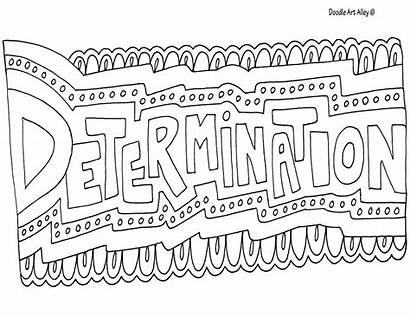 Coloring Word Doodle Determination Alley