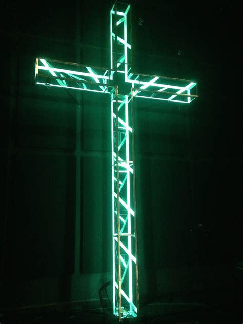 aluminum cross church stage design ideas