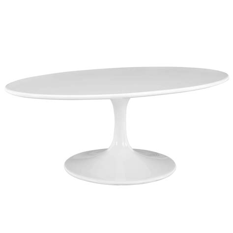 """It lets you create a warm and inviting look with your favorite decor if you have a material of choice, look through a wide range of tables in different materials like marble, glass, wood, and metal. Mid-Century Modern 42"""" Oval White Wood Top Pedestal Living Room Coffee Table 
