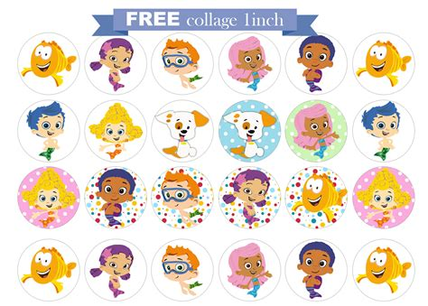 Free Printable Invitation Bubble Guppies Free Collage 1 Inch