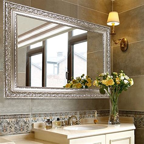 Fancy Mirrors For Bathrooms by Large Silver Mirror