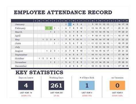 employee attendance record employee attendance records