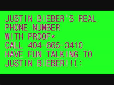 phone number to justin biebers real cell phone number