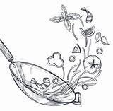 Wok Drawing Pie Drawings Paintingvalley sketch template