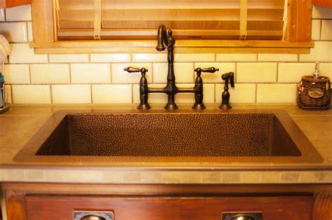 Home Decor Alluring Copper Kitchen Sinks Combine With So