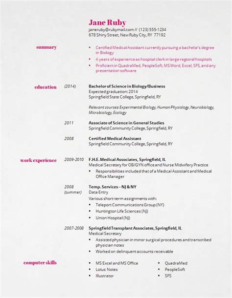 17 best ideas about student resume template on