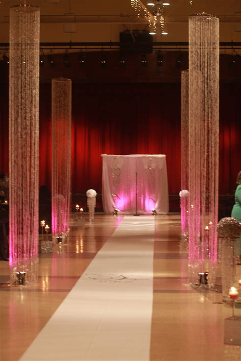 Crystal Columns Wedding Column Crystal Wedding Decor
