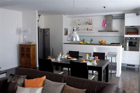 salon et cuisine beau cuisines ouvertes sur salon photos et cuisine ouverte