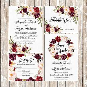 best 25 floral wedding invitations ideas on pinterest With wedding invitations printed and mailed for you