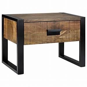 Table De Chevet Cube : table chevet but inspirations avec atelier chic industriel table de chevet en bois avec des ~ Teatrodelosmanantiales.com Idées de Décoration