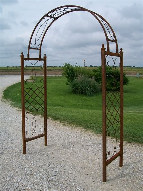 wrought iron arbor with gate wrought iron skyview arbor flower arch trellis 1966
