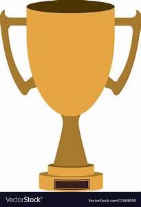 Gold trophy icon Royalty Free Vector Image - VectorStock