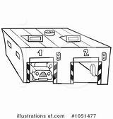 Coloring Garage Garages Template Clipart sketch template