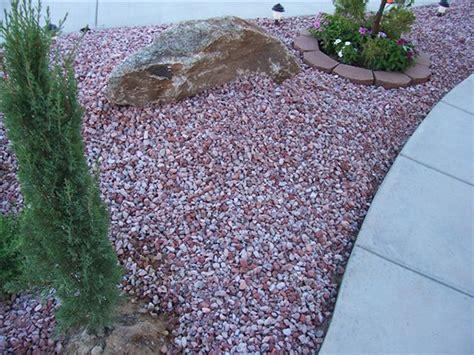 outdoor gardening pink and grey desert landscaping