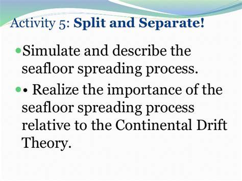 describe the process of seafloor spreading sea floor spreading