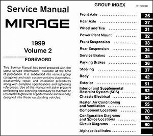 1999 Mitsubishi Mirage Repair Shop Manual Set Original
