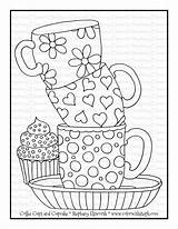 Coloring Cupcake Coffee Printable Cups Colorwithsteph Printables sketch template