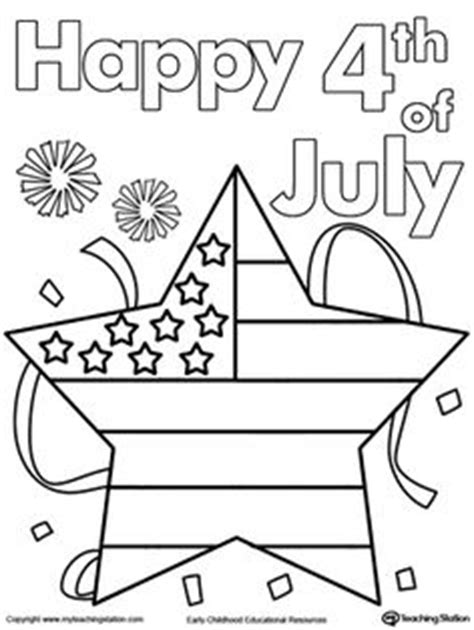 july fourth hat coloring page  preschool fun