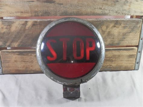 Antique Stop Tail Light School Bus Fire Truck, Police Car