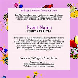 Email birthday invite templates party and birthday invitation free email invitation template stopboris