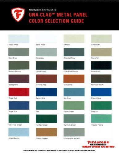 sheet metal color chart steel and aluminum color charts firestone pac clad