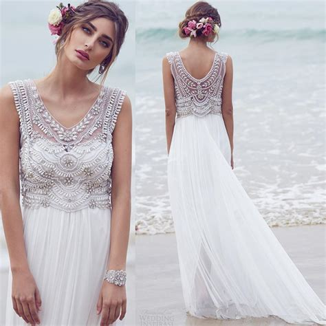 cheap designer clothes for alluring ivory bohemian wedding dress collection