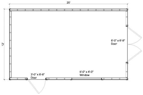 12x20 Storage Shed Material List by Free 12 215 20 Storage Building Plans Woodideas