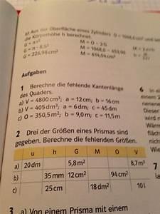 Ionisierungsenergie Berechnen : prisma fehlende gr ssen bei quader und prisma berechnen mathelounge ~ Themetempest.com Abrechnung