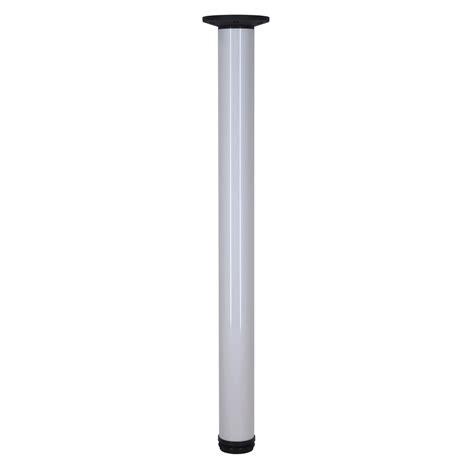pied de plan de travail r 233 glable en aluminium bross 233 blanc de 73 224 110cm leroy merlin