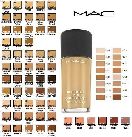 mac foundation color chart what s the best color of foundation in mac brand for
