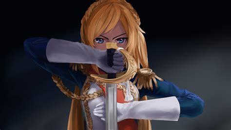 anime girl blue eyes  sword hd anime  wallpapers
