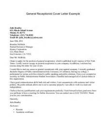 receptionist exle cover letter receptionist cover letter exle resume sles