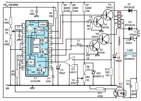 Push Pull Switched Mode Power Supply