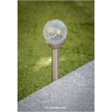 276055 crackle solar light post
