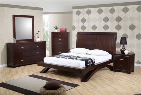 raven bedroom set dark cherry finish rvqb decor