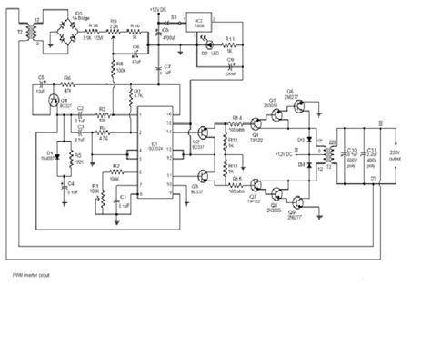 250w pwm inverter circuit sg3524 electronicsmaster weebly com