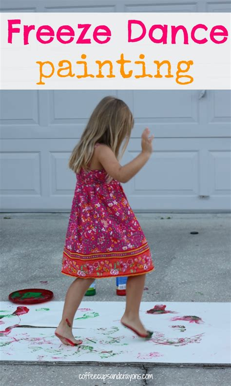 activity freeze painting coffee cups and 957 | Freeze Dance Painting A fun gross motor activity for exploring music.